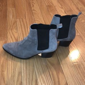 L'INTERVALLE Gray suede booties size 6.5/7